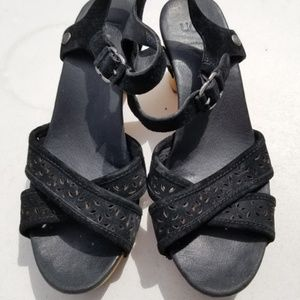Ugg Leather and Wooden sandals